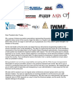 Trump Letter for protective pool