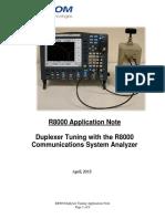 R8000 App Note Duplexer Tuning