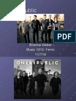 one republic music presentation