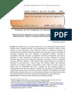Problemas de Apropriação Dos Saberes Ambientais No Campo Educacional as Ies' e a Formação Do Educador Ambiental.