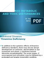 Acquired Metabolic and Toxic Disturbances