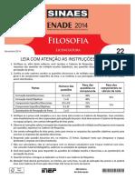 Enade 2014 Filosofia Licenciatura Prova