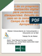 TFM Diseño de un programa de Alfabetización digital para personas con discapacidad