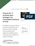 16-11-16 Conoce Las 11 Acciones Para Proteger a La Comunidad Mexicana en EUA