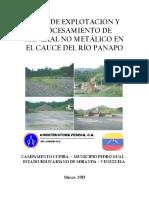 Proyecto de Explotacion y Procesamiento de Mineral No Metalico en El Cauce Del Rio Panapo