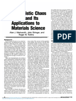 Deterministic Chaos Theory and Its Applications to Materials Science