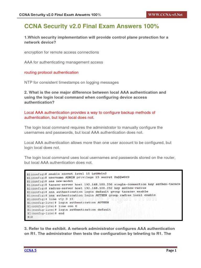 ccna security v2 0 final exam answers 100 1 pdf cisco rh pt scribd com Cisco CCNA Lab CCNP Lab
