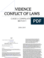 Evidence Conflict Cases Compilation Batch 1