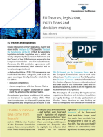 Factsheet EU Treaties Institutions Legislation
