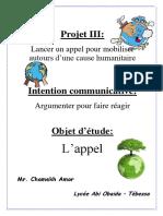 3 as - Projet 3 l'appel