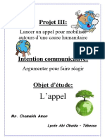 3 as - Projet 3 l'appel