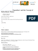The 'Continuous Exposition' and the Concept of Subordinate
