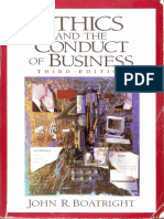 Cover page ETHICS and the Conduct of Business 3rd