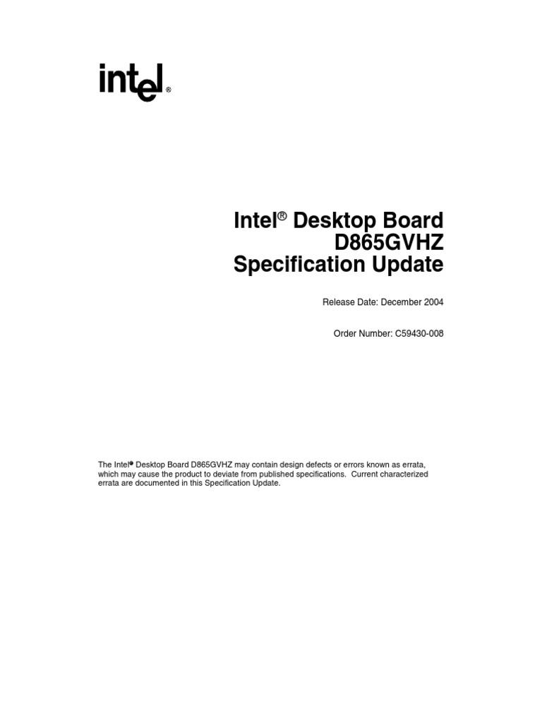 Intel desktop board d865gvhz drivers download windows 7.