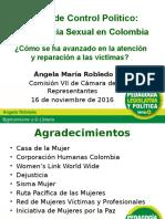 Presentación Debate Violencia Sexual Comisión VII