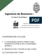 1. Introduccion Al Curso de Ingenieria de Reactores I
