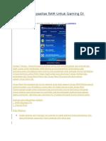 Menambah Kapasitas RAM Untuk Gaming Di Android