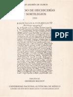 Tratado de Hechicerías y Sortilegios (1553)