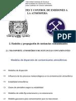 2.5 TRANSPORTE ATMOSFÉRICO DE SUSTANCIAS CONTAMINANTES