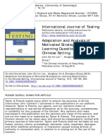 Adaptation and Analysis of Motivated Strategies for Learning Questionnaire in the Chinese Setting