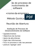 Avaliação do processo de desenvolvimento de software