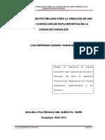 Investigacion de Mercado Ropa Deportiva