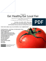 Eat Healthy/Eat Local Fair June 26th