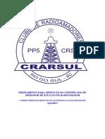 TREINAMENTO PARA OBTENÇÃO DO CERTIFICADO DE OPERADOR DE ESTAÇÃO DE RADIOAMADOR