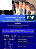 Gmp Modul 1 Quality Management