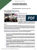 Metodologías Educativas – Innovación Educativa