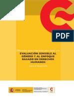 Evaluación Sensible Al Género y Enfoque DH Para El Desarrollo