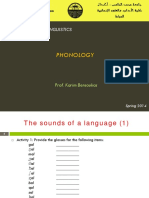 Intro to Core Lxs- Phonology