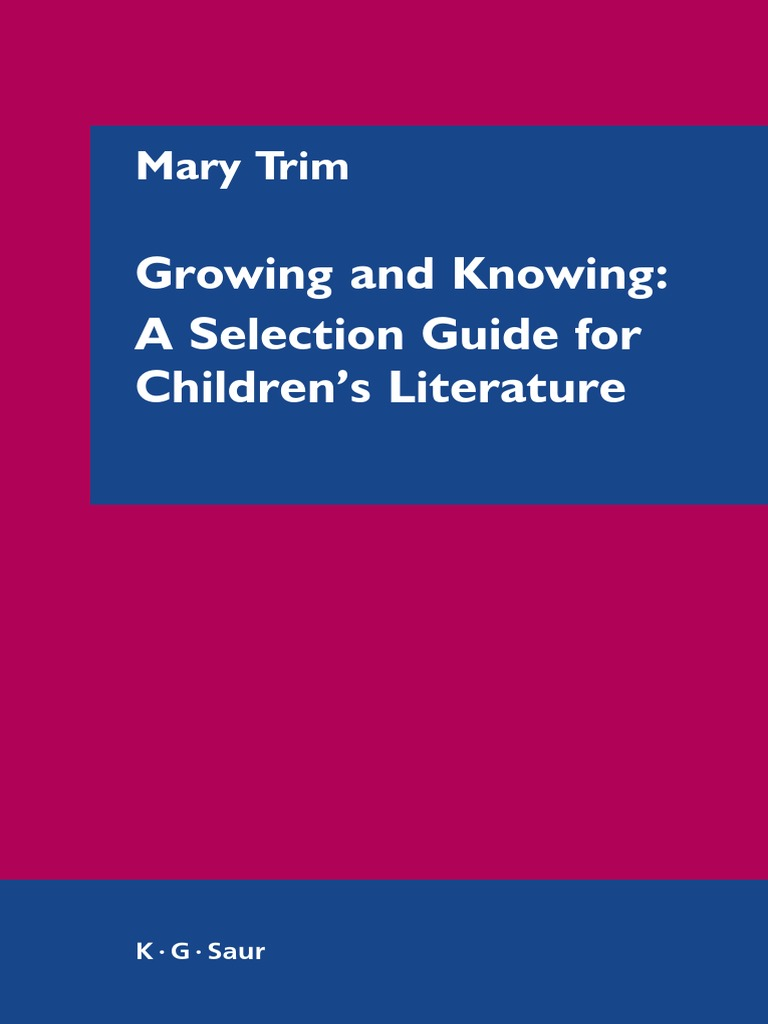 Growingandknowingpdf childrens literature librarian fandeluxe Image collections
