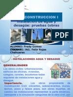 Instalacion de Agua y Desague Obras de Saneamiento
