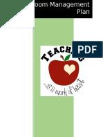 classroom managemet plan