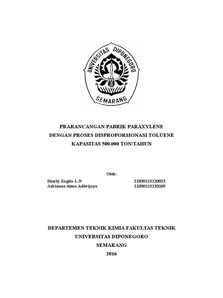Proposal prarancangan pabrik paraxylene ccuart Choice Image