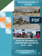 Pdc Plateria 2016 - 2021 (Doc. Final) Octubre 2016