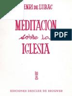 Lubac Meditación sobre la Iglesia.pdf