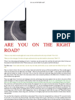 Are You on the Right Road