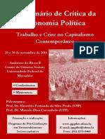 Cartaz Seminário Crítica Economia Política