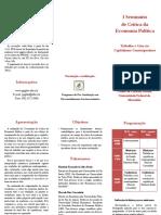 Folder Seminário Crítica Economia Política