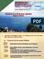 Criterios PIP Agricultura 2011