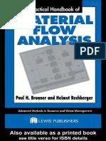 Material Flow Analysis Practical Handbook [Brunner Rechberger](1)