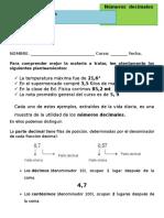 Guía de Decimales para cuarto básico.