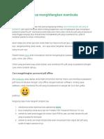 2 Cara Mengapus Menghilangkan Membuka Password PDF