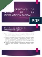 5.2 Derechos de Autor de La Información Digital