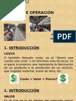 Capitulo  Costos Operacion