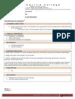 COMP101 Curriculum