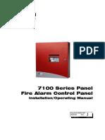 FCI 7100 Installation Operating Manual