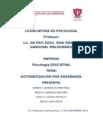 Sistematización Por Enseñanza Psicología Educativa (1)